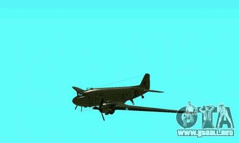 C-47 Dakota RAF para visión interna GTA San Andreas