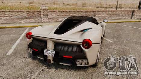 Ferrari LaFerrari para GTA 4 Vista posterior izquierda