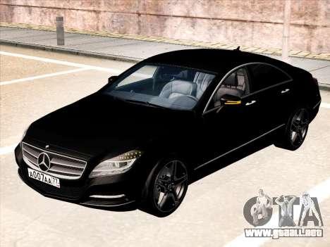 Mercedes-Benz CLS350 2012 para GTA San Andreas vista posterior izquierda