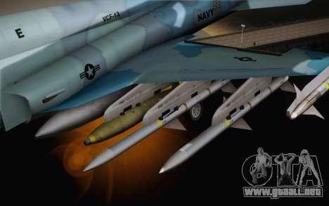 F-5E Tiger II para la visión correcta GTA San Andreas