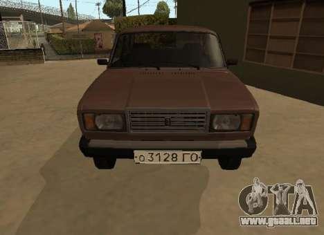 VAZ 2107 versión Temprana para GTA San Andreas left
