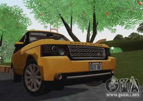 Range Rover Supercharged Series III para GTA San Andreas left