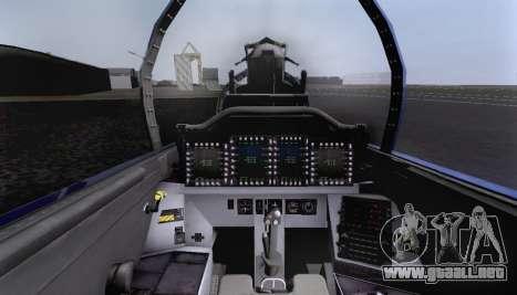 F-15S para vista inferior GTA San Andreas
