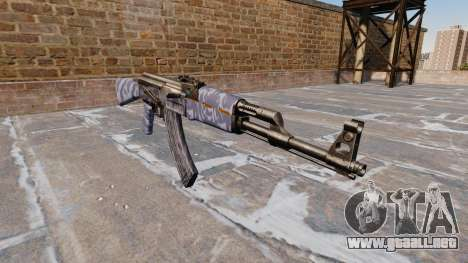 El AK-47 Aqua Camo para GTA 4 segundos de pantalla