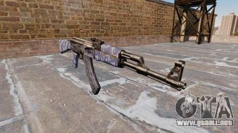 El AK-47 Blue Camo para GTA 4