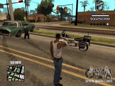 C-HUD By Kapo para GTA San Andreas quinta pantalla