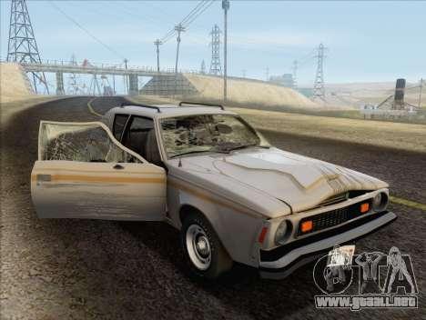 AMC Gremlin X 1973 para vista lateral GTA San Andreas