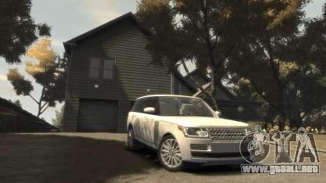 Range Rover Vogue 2014 para GTA 4 vista hacia atrás
