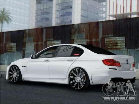 BMW 550 F10 VOSSEN para la vista superior GTA San Andreas