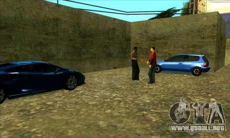Servicio de coche de centro de Sijia en Las Vent para GTA San Andreas tercera pantalla