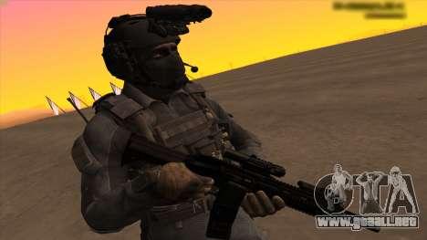 Sgt Keegan P.Russ из De Call of Duty: Ghosts para GTA San Andreas sucesivamente de pantalla