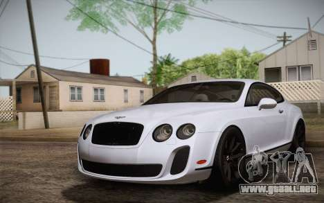 Bentley Continental SuperSports 2010 v2 Finale para GTA San Andreas
