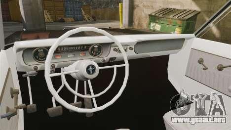Ford Falcon 1963 para GTA 4 vista hacia atrás