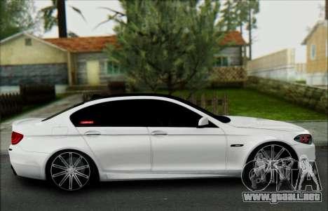 BMW 550 F10 VOSSEN para visión interna GTA San Andreas