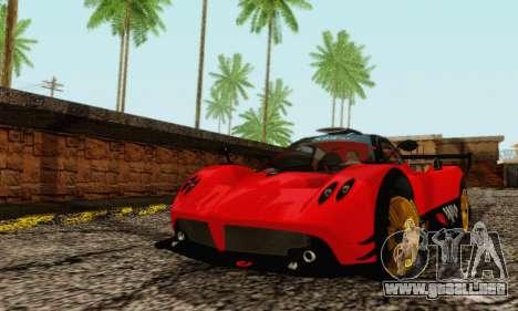 Pagani Zonda Type R Red para GTA San Andreas left
