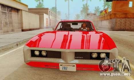 GTA 4 Imponte Dukes V1.0 para GTA San Andreas vista posterior izquierda