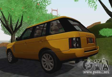 Range Rover Supercharged Series III para vista lateral GTA San Andreas