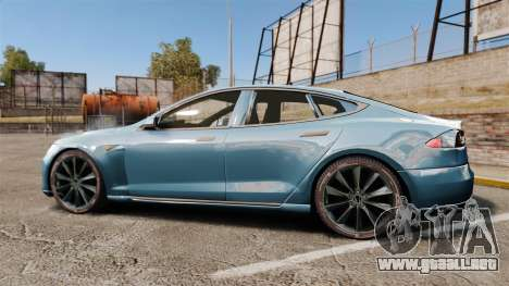 Tesla Model S para GTA 4 left
