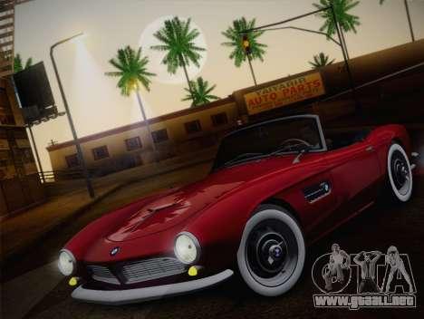 BMW 507 1959 Stock para GTA San Andreas vista hacia atrás