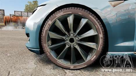 Tesla Model S para GTA 4 vista hacia atrás