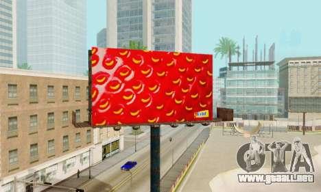 Nuevo de alta calidad de la publicidad en los ca para GTA San Andreas novena de pantalla