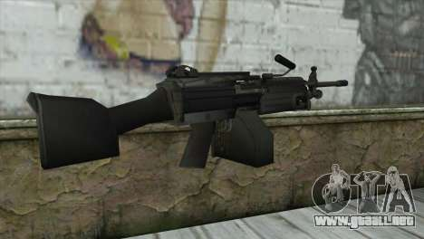 M249 SAW Machine Gun para GTA San Andreas segunda pantalla