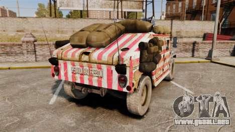 HMMWV M1114 Freedom para GTA 4 Vista posterior izquierda