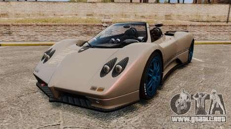 Pagani Zonda C12 S Roadster 2001 PJ1 para GTA 4