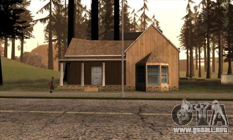 Casa nueva de Sijia en Angel Pine para GTA San Andreas segunda pantalla