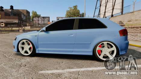 Audi S3 EmreAKIN Edition para GTA 4 left