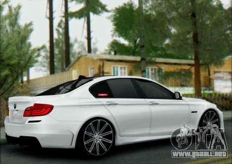 BMW 550 F10 VOSSEN para GTA San Andreas vista posterior izquierda