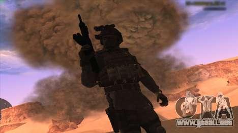 Sgt Keegan P.Russ из De Call of Duty: Ghosts para GTA San Andreas tercera pantalla