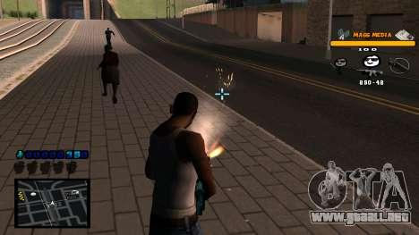 C-HUD Mass Media para GTA San Andreas sucesivamente de pantalla