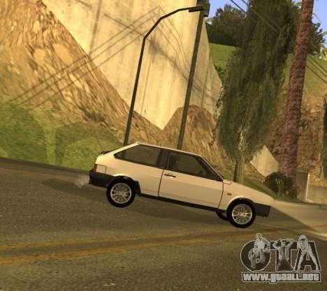 ВАЗ 2108 GVR Versión 1.2 para GTA San Andreas vista posterior izquierda