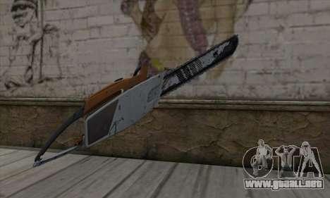 Chainsaw para GTA San Andreas segunda pantalla