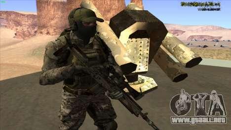 U.S. Navy Seal para GTA San Andreas sucesivamente de pantalla