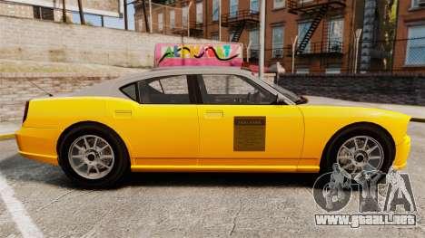 Bravado Buffalo Taxi para GTA 4 left