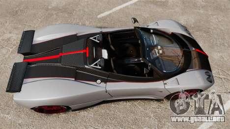 Pagani Zonda C12 S Roadster 2001 PJ5 para GTA 4 visión correcta