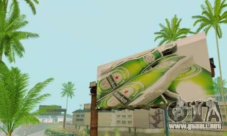 Nuevo de alta calidad de la publicidad en los ca para GTA San Andreas octavo de pantalla