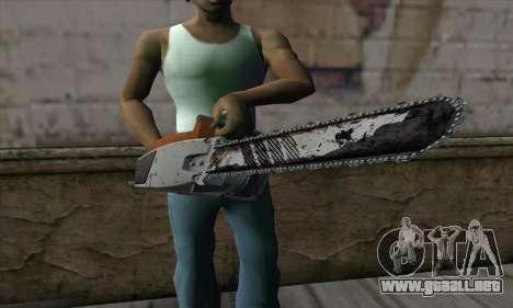 Chainsaw para GTA San Andreas tercera pantalla