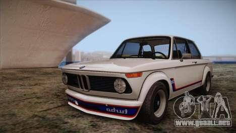 BMW 2002 1973 para la vista superior GTA San Andreas