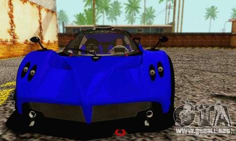 Pagani Zonda Type R Blue para GTA San Andreas left