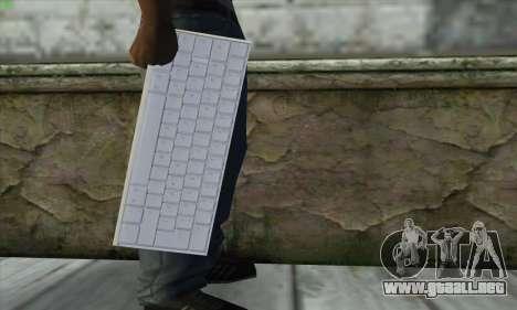 Tastatur Waffe para GTA San Andreas tercera pantalla
