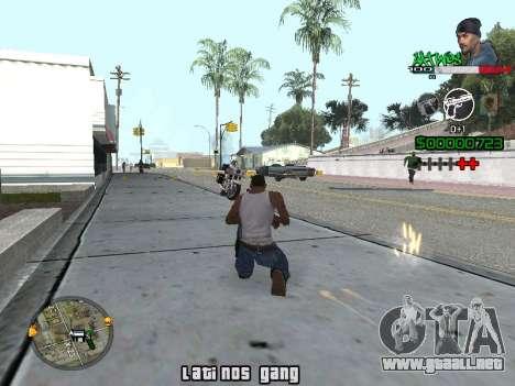 C-HUD Latinos by K.D para GTA San Andreas segunda pantalla