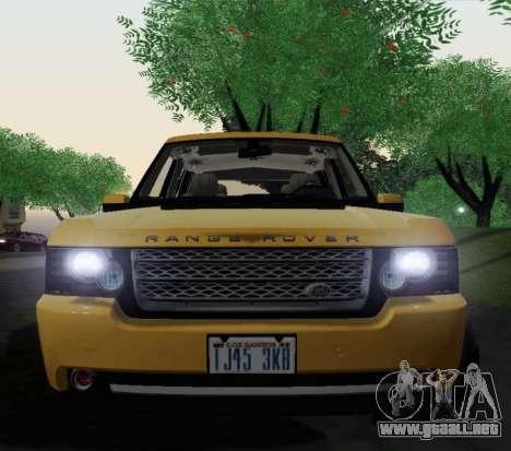 Range Rover Supercharged Series III para GTA San Andreas vista hacia atrás