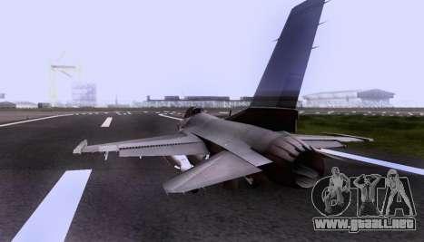 F-16 A para visión interna GTA San Andreas