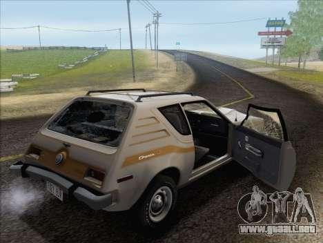 AMC Gremlin X 1973 para vista inferior GTA San Andreas