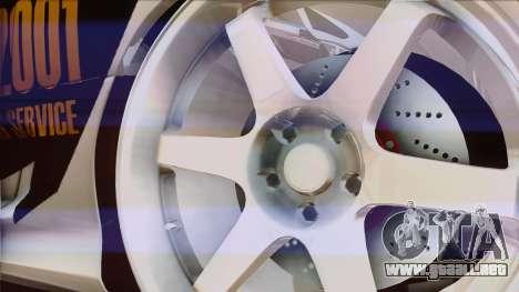 Toyota Supra 1998 Top Secret para vista lateral GTA San Andreas