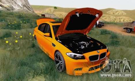 BMW F10 M5 2012 Stock para GTA San Andreas left