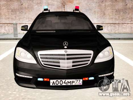 Mercedes-Benz S65 AMG 2012 para GTA San Andreas left